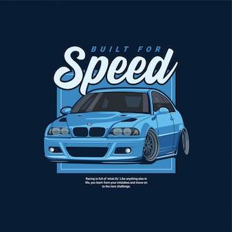 Ilustração de carro de corrida de rua esporte