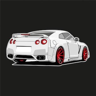 Ilustração de carro de monstro