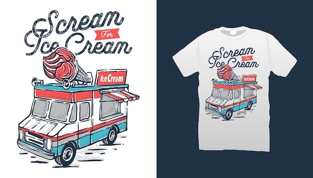 Ilustração de carro de sorvete