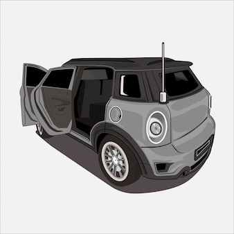 Ilustração de carro design plano