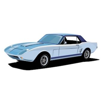 Ilustração de carro esporte clássico retrô