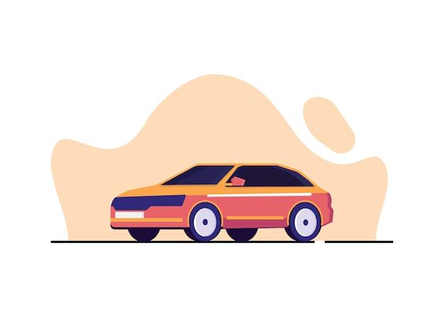 Ilustração de carro moderno em estilo simples