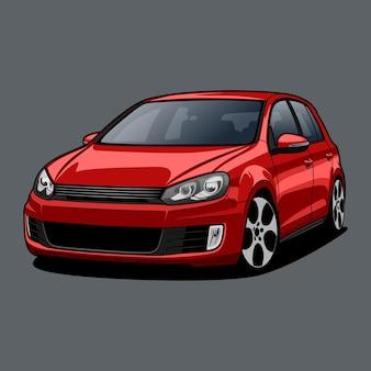 Ilustração de carro para design conceitual
