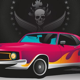 Ilustração de carro retrô