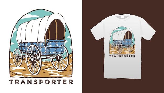 Ilustração de carroça vintage