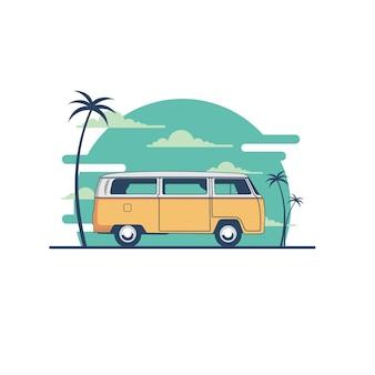 Ilustração de carros antigos