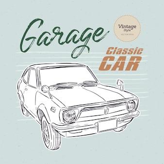 Ilustração de carros clássicos antigos