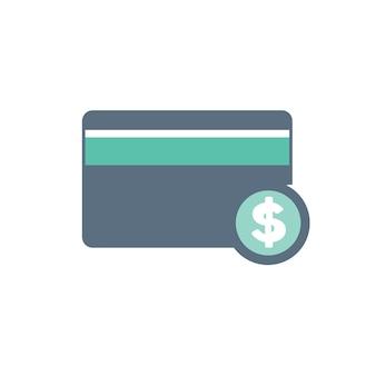 Ilustração, de, cartão crédito, ícone