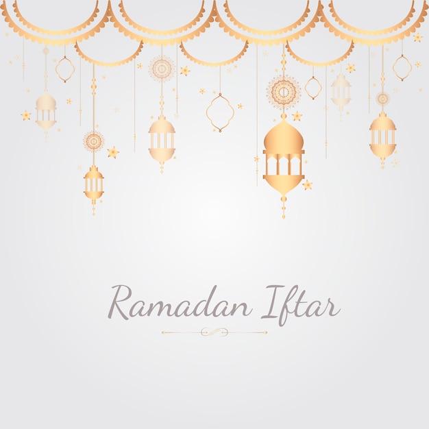 Ilustração de cartão do ramadã
