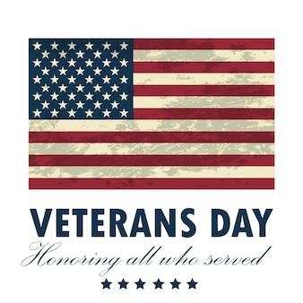 Ilustração de cartão feliz dia dos veteranos.