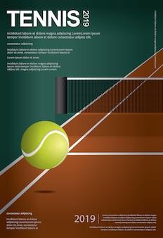 Ilustração de cartaz de campeonato de tênis