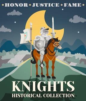 Ilustração de cartaz de cavaleiro