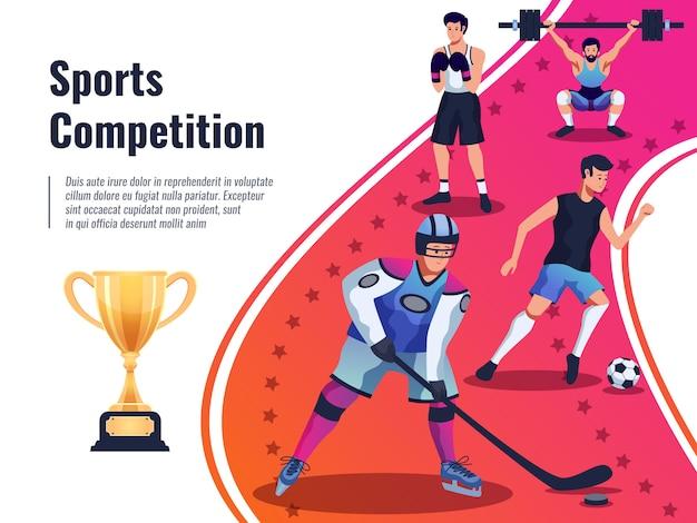 Ilustração de cartaz de competição esportiva