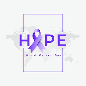 Ilustração de cartaz do dia mundial do câncer