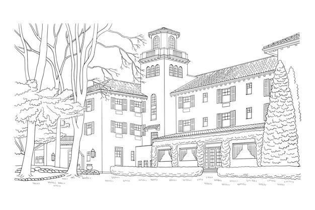 Ilustração de casa elegante