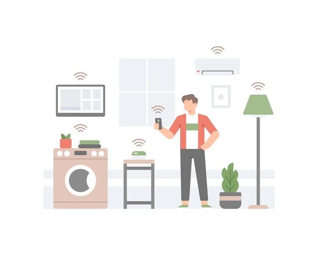 Ilustração de casa inteligente