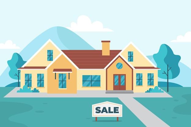 Ilustração de casa para alugar