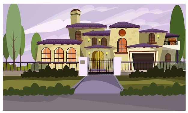 Ilustração de casa residente