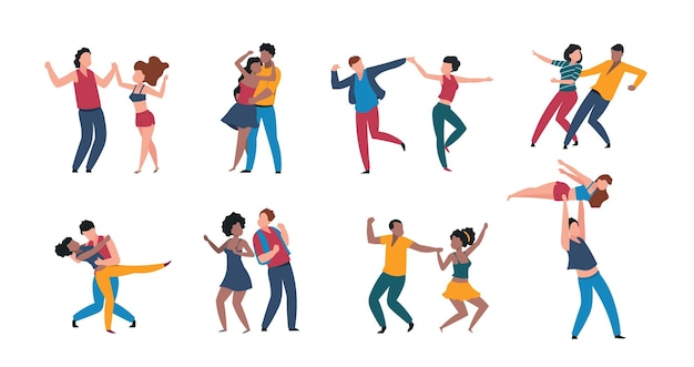 Ilustração de casais dançando
