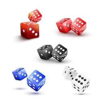 Ilustração de casino com dados isolados