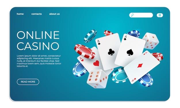 Ilustração de casino online