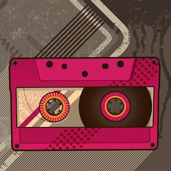 Ilustração de cassete de áudio