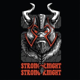 Ilustração de cavaleiro forte