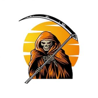 Ilustração de caveira de halloween