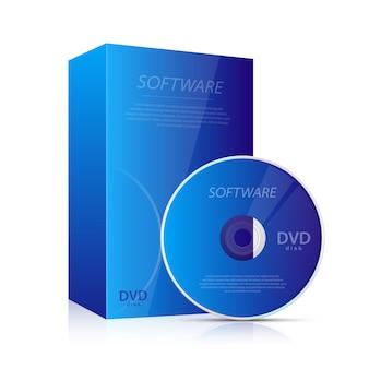 Ilustração de cd e dvd em fundo branco