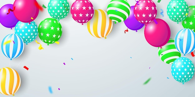 Ilustração de celebração de balões.