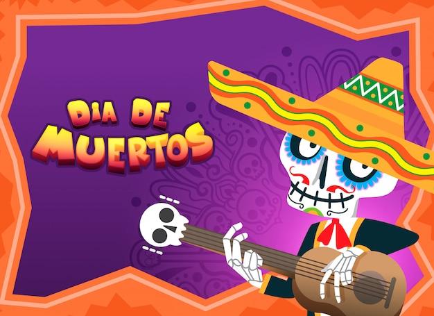 Ilustração de celebração de dia de muertos