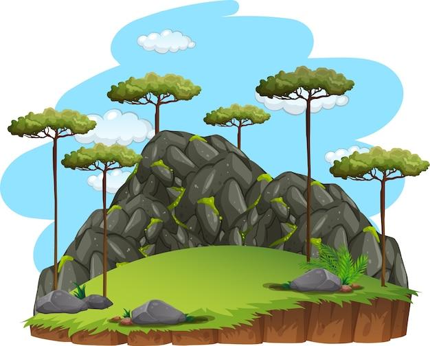 Ilustração de cena da natureza ao ar livre