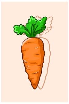 Ilustração de cenoura