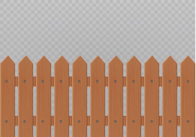 Ilustração de cerca de madeira em branco background.set cerca de ícones feita de ilustração