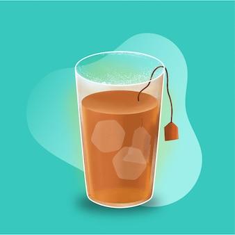 Ilustração de chá gelado