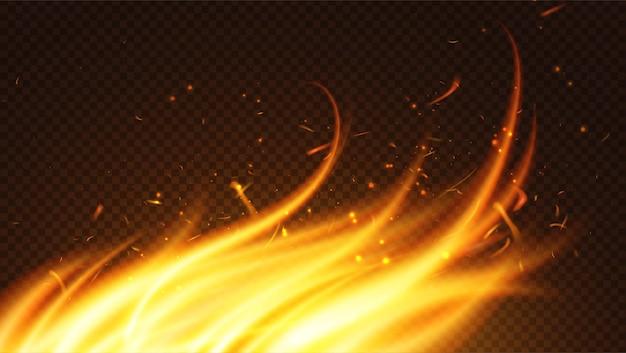 Ilustração de chama de fogo ardente