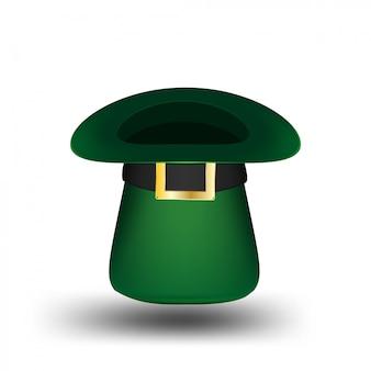 Ilustração de chapéu de dia de são patrício