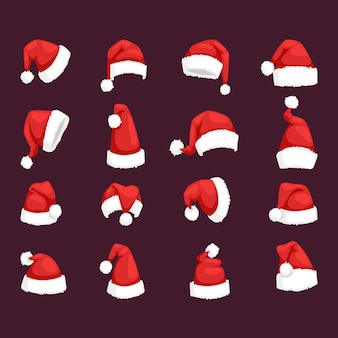 Ilustração de chapéu de natal papai noel.