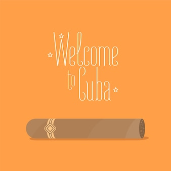 Ilustração de charuto cubano