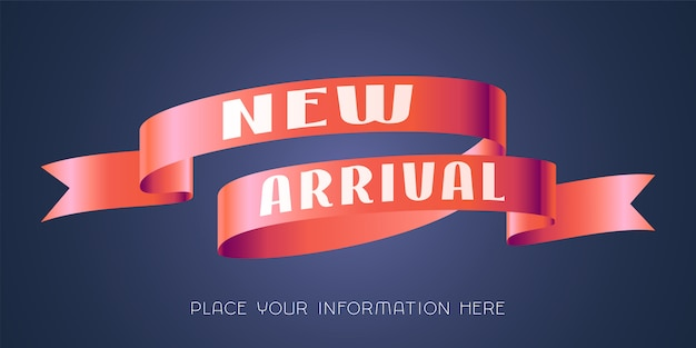 Ilustração de chegada nova, banner