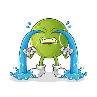 Ilustração de choro de tênis. vetor de personagem