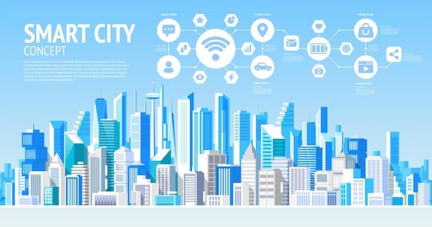 Ilustração de cidade inteligente