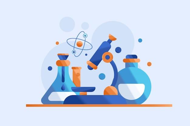 Ilustração de ciência e pesquisa