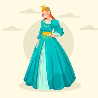 Ilustração de cinderela