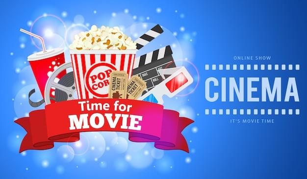 Ilustração de cinema e filme