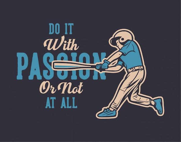Ilustração de citação de beisebol