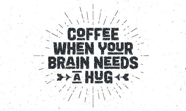 Ilustração de citação de café