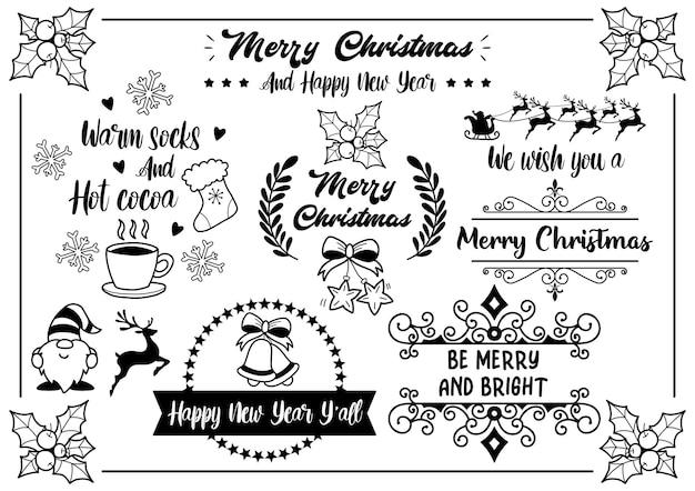 Ilustração de citação de natal para banner, cartaz, folheto