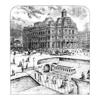 Ilustração de civilização vintage