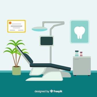 Ilustração de clínica dentária